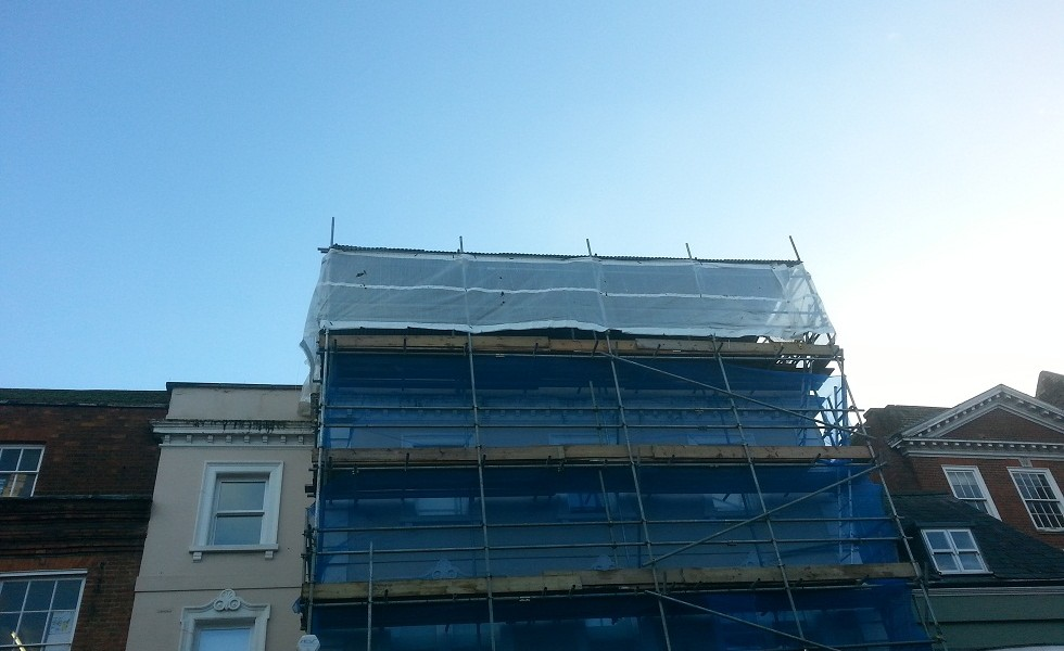 Natwest, Dorking - Temp Roof